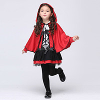 Halloween Costume For Kids Girl Red Elf Devil Cosplay Children Wear Dancing Skirt Kid Anime Carnival Party Costumes Show Clothes