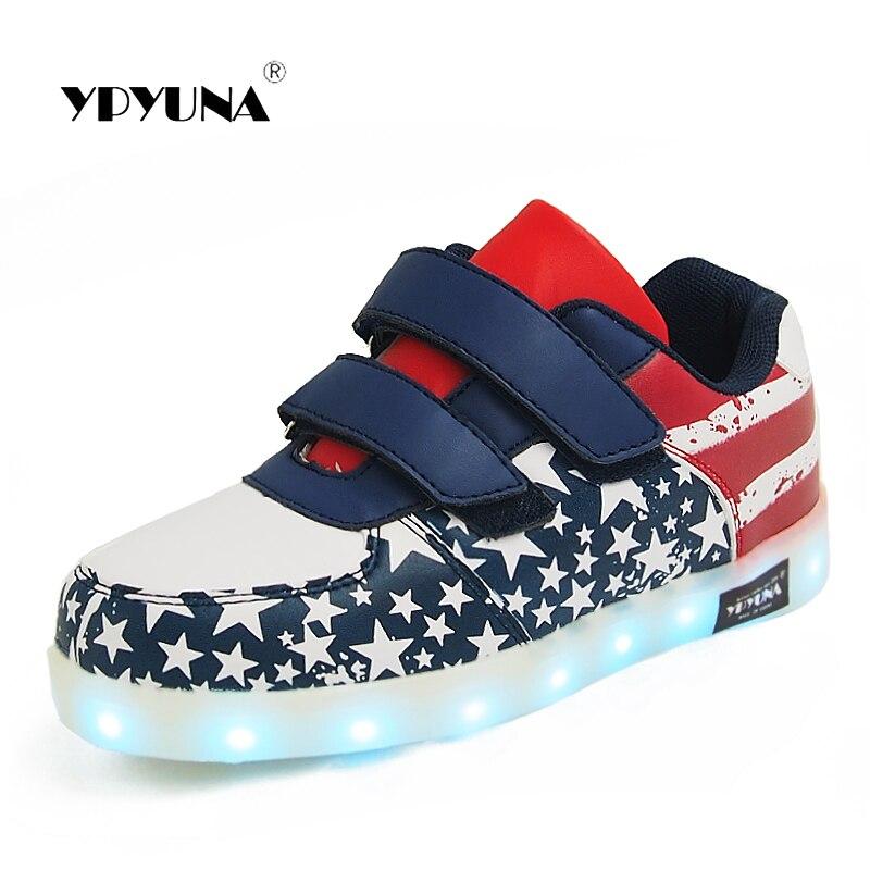 93ae8f19 Rozmiar 25 37//Usb świecące tenisówki koszyk Led dziecięce podświetlane  buty podświetlane krasovki Luminous chłopięce buty sportowe typu sneakers i  ...
