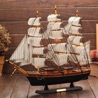 DIY Wooden 60 51CM Boat Ship Craft Rudder Large Sailboat Figurine Nautical Decor Wood Craft Gift