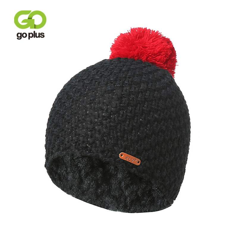 GOPLUS 2019 Winter Brand Pompom Knitted Hat Women New Fashion Hip hop Solid   Skullies     Beanies   Female Cotton Thick Warm Caps Girl