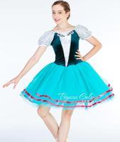green velvet adult kids Ballet Dance Ballerina Girls ballet dress leotard