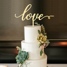 Love Cake Toppe, Wedding Topper, Laser Cut Birthday Rustic Wood Topper