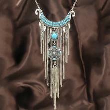 Женское Ожерелье в богемном стиле винтажная цепочка серебряного