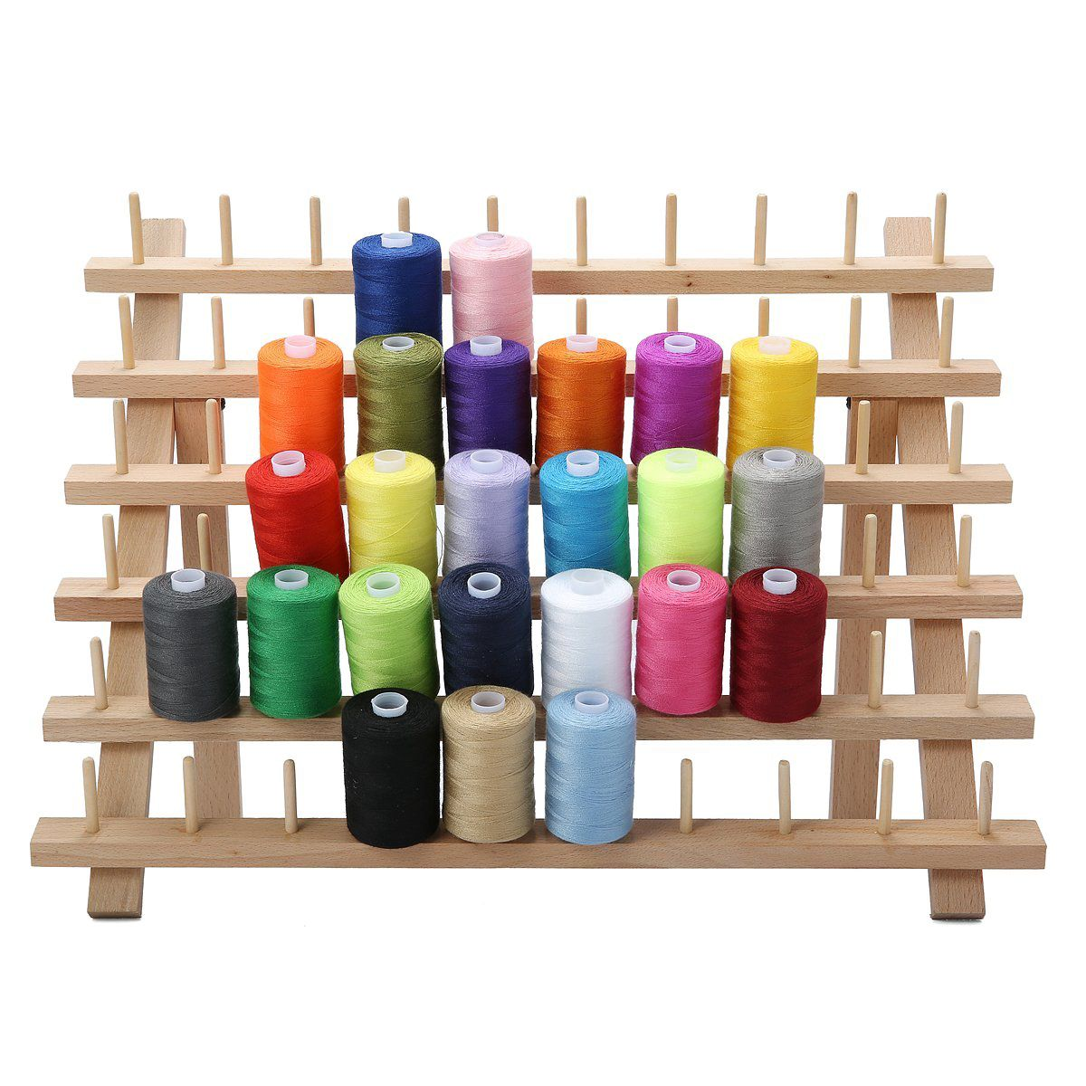 Hot Sale 60 Spool Wooden Thread Rack and Organizer for Sewing Quilting Embroidery in Storage Holders Racks from Home Garden