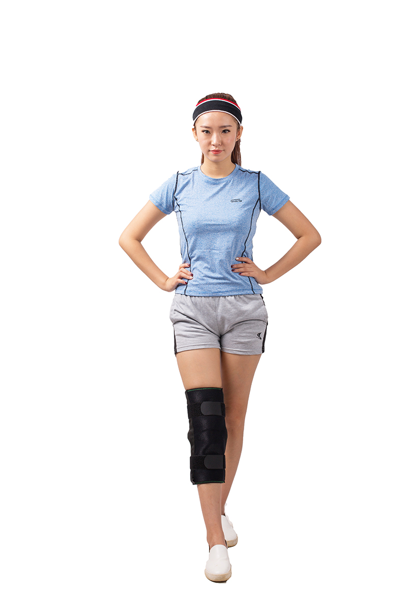 Wrap-Around Supportive Knee Brace with Breathable Neoprene Sleeve, Relieving for Joint Sprain and Tibiofibula fracture