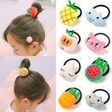 Popular 1pc Sweet Style Fruit Shape Hair Rope Cute Cartoon Rubber band Elastic Hair Accessories for Kids Girls School Children