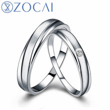 c9831495c9 ZOCAI Pair 0.01 Ct certified diamond PT950 wedding bands for women ring and men  ring Q00534AB