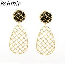 Fashion jewelry earring The new lady droplets alloy earrings geometry stud wholesale