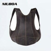 NIUBOA Outdside Pack de Bolsas de Hombres y Mujeres de Bicicletas Mochila de Cuero Genuino 100% piel de Vaca Hombro Mochila Personalizada Bolsa Abrazo