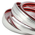 20mm de Largura 5 M 16ft Exterior e Interior Do Carro Cromo Decoração Tira de Prata Adesivo Autocolante no vidro Grille Impacto Proteger Styling Moulding