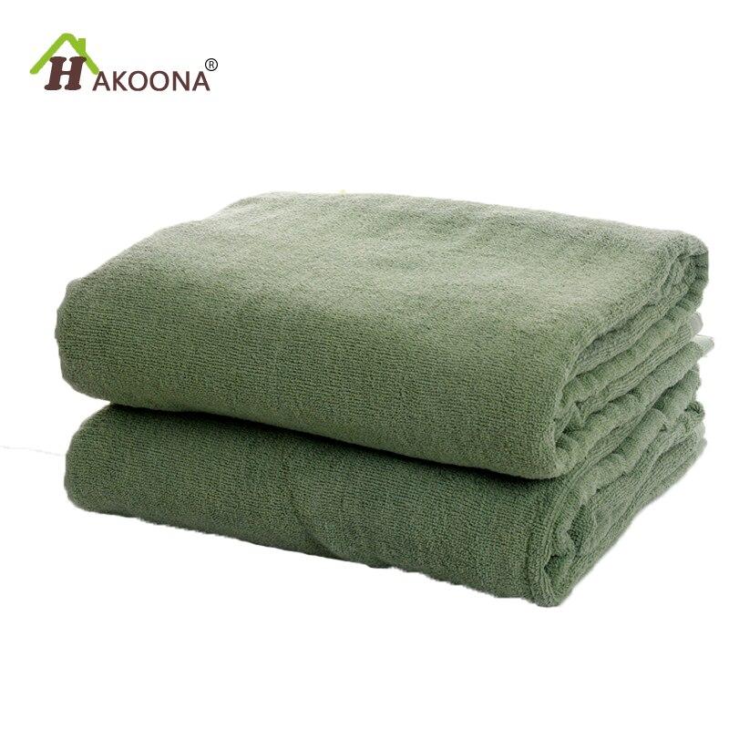 HAKOONA armée vert serviettes couvertures pour adultes chambre été mince jette 150*200 cm * 900 grammes