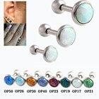 3pcs/Lot (1.2x6x3/4/5mm) Hot Opal Ear Cartilage Piercing 16 Gauge Ball Ear Cartilage Piercing Jewelry Earrings Earrings Stud