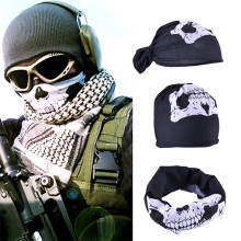 New Skull Bandana  Paintball Bike Motorcycle Helmet Neck Face Mask Paintball Ski Sport Headband Halloween Skull Face Mask