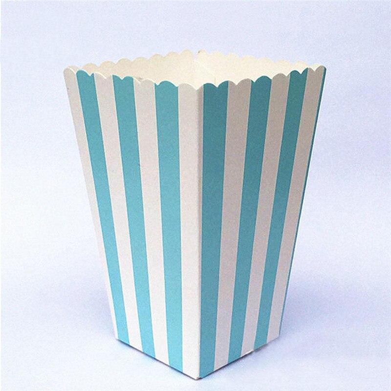 24 шт./лот в полоску стакана попкорна День рождения украшения складной Кубок закуски охраны окружающей среды лоток стакана попкорна лоток