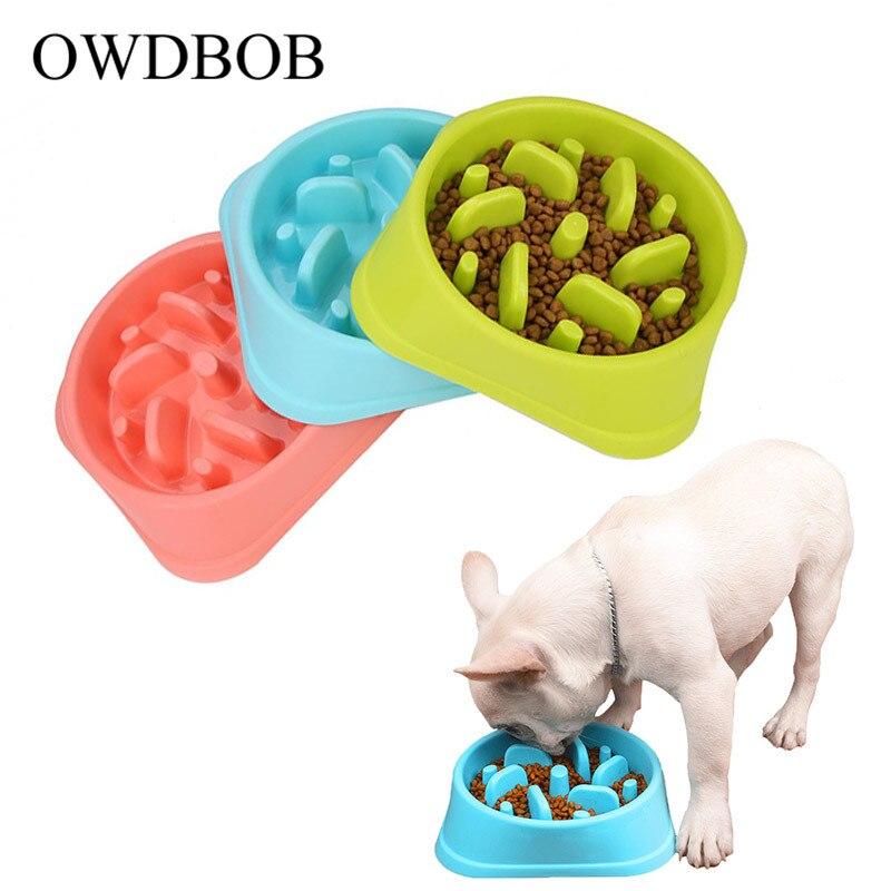 OWDBOB Anti Choke Pet Dog Feeding Food Bowls Puppy Slow Down Eating Feeder Dish Bowl Healthy Diet Dish Pet Dogs Supplies