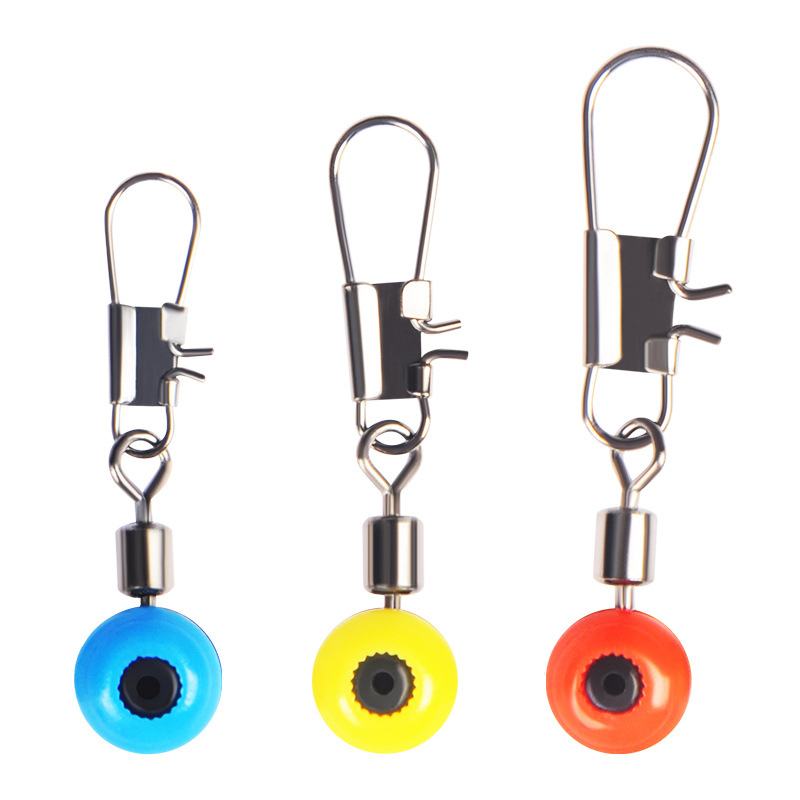 10pcs/lot Fishing Float Bobber Stops Space Beans Connectors Sea Saltwater Tools Connector Rolling Swivel Supplies Fishing Tackle