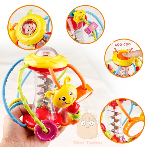 Baby Rattle Activity Ball Rattles Educational Toys For Babies Grasping Ball Puzzle Playgro Baby Toys 0-12 Months climb Learning Lahore