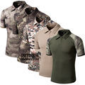 Coolmax Tactical Camouflage Outdoors T Shirt Men Quick Dry Military Army Combat T-Shirt Turn Down Tees Tops Camo Hunt Clothes