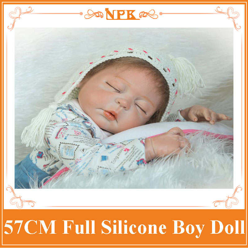 Closed Friend About 22'' 57cm Full Silicone Reborn Baby Doll With Magnetic Pacifier Sleeping Adora Non-toxic Baby's  Reborn Doll baby friend baby friend средство для купания новорожденных ромашка 300 мл