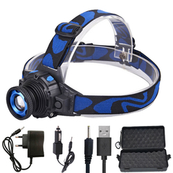 z30 Led Bright Headlamp Head Light Head Flashlight LED Headlight Build-in Rechargeable Battery Head Lamp Zoomable