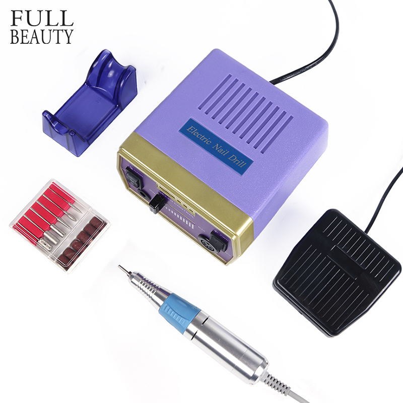 Полный Красота электрический ногтей Книги по искусству машина устанавливает 30000 об./мин. для мельниц электрические маникюрные дрель аксесс...