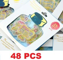 48pcs/lot New Sweet Drifting bottle series Gift seal flake sticker pack hot selling decoration packing stickers retail(China)