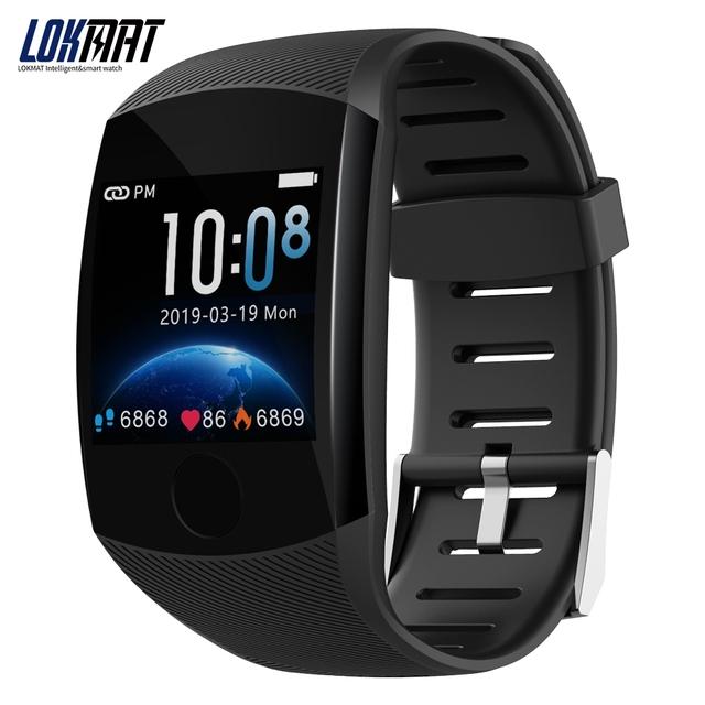 LOKMAT Bluetooth Smart Band Heart rate Blood Pressure Pedometer Waterproof Fitness Tracker Smart Bracelet for men
