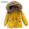 2-7 T bebê menino roupas meninas meninos casacos e jaquetas 2016 novo meninos de inverno da bandeira DOS EUA com capuz casaco grosso crianças quentes casaco de inverno meninas
