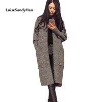 2021 cardigan invernali da donna modelli di maglieria maglione scollo a v manica lunga maglione caldo in lana sciolto top da donna