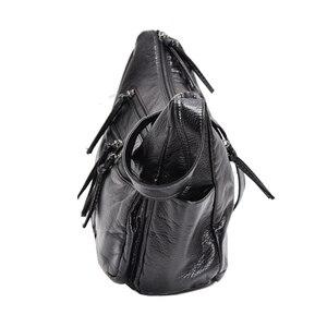 Image 3 - Burlie sacs à Main en cuir PU souple pour femmes, sacoches de bonne qualité pour dames, Sac à épaule de luxe lavé, nouvelle collection