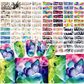 60 Design/Lot Nail Stickers Flower Art Water Decals Girl Set Full Wrap Tips Nails Beauty Care Towers Patterns Manicure BN121-180
