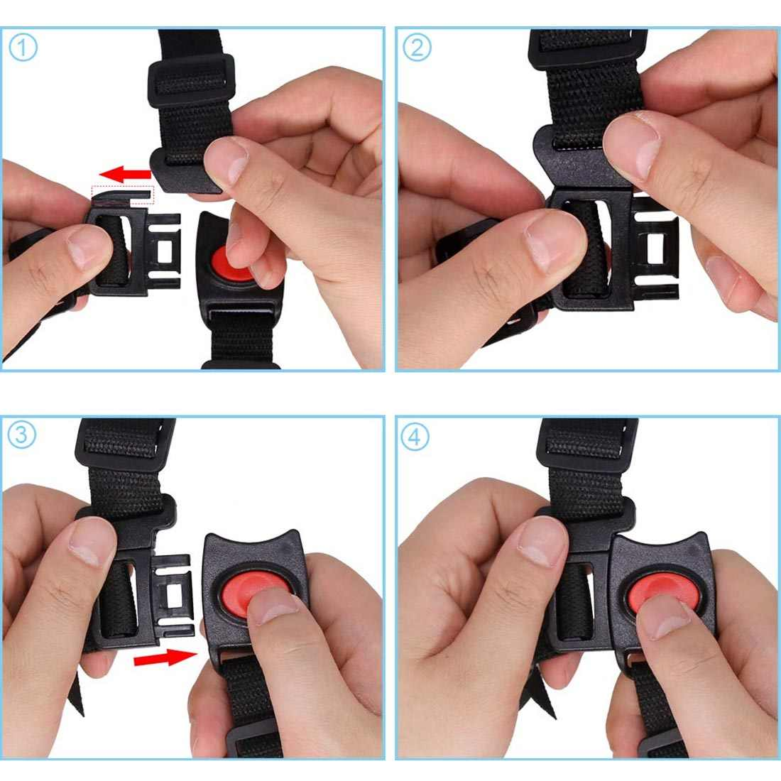 เด็ก Universal 5 จุดเข็มขัดนิรภัยเข็มขัดนิรภัยสำหรับรถเข็นเด็กเก้าอี้สูงรถเข็นเด็ก Buggy เด็กรถเข็นเด็กเหมาะสำหรับได้ง่ายใช้