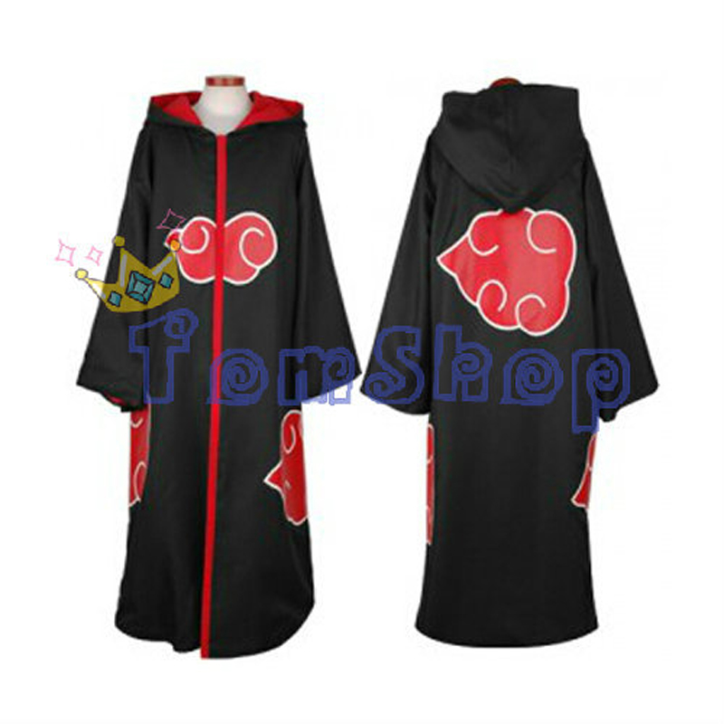 Anime Naruto Cosplay Costume Team Taka Hawk Hoodie Cloak Cape Sasuke Uchiha Hooded Robe Dust Coat Size S M L XL XXL