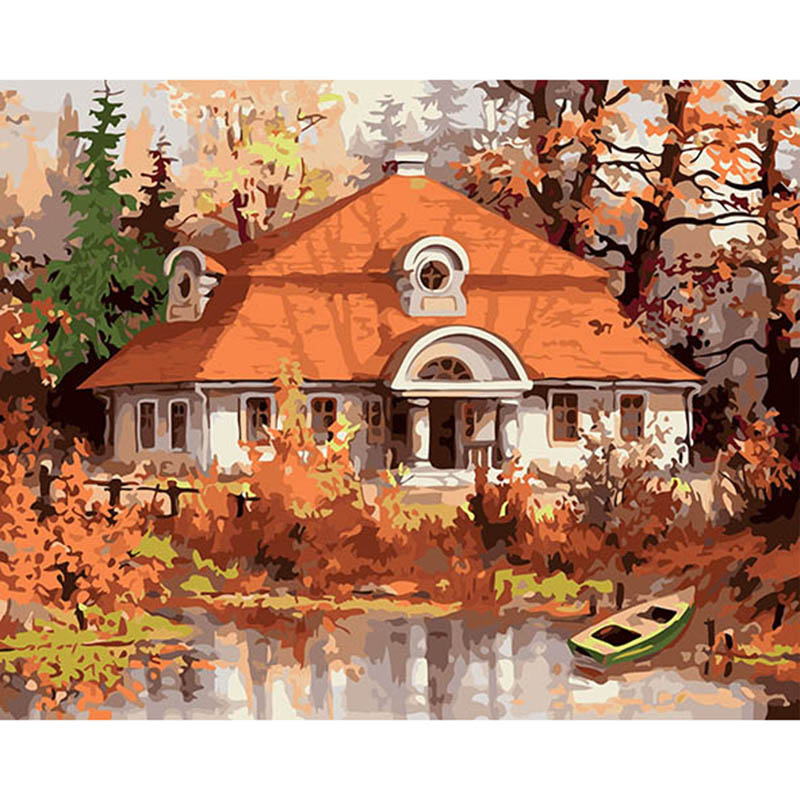 40x50 Autumn Home Mural home decor wall Oil Painting Coloring By Numbers on Canvas art Modular poster pictures DY119