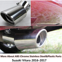 High Quality For SUZUKI Vitara 2016 Car Styling Cover Muffler Exterior End Pipe Dedicate Stainless Steel