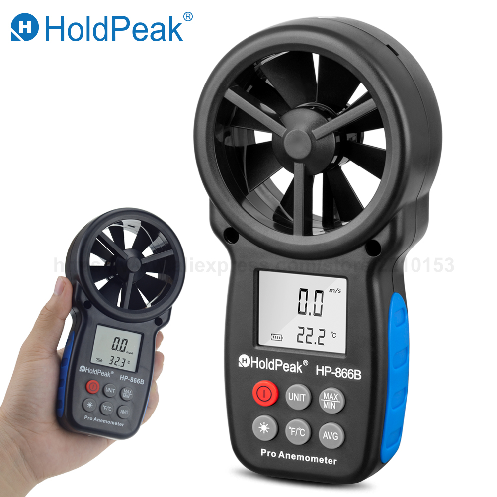 Free Shipping HoldPeak handheld Digital Anemometer Wind Speed Measurement Wind Device Handheld with Carry Bag 866B