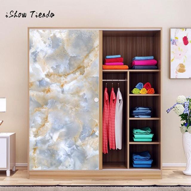 Marble Effect Cabinets Stickers Wall Counter Top Contact Paper Vinyl Self  Adhesive Wallpaper Bathroom Kitchen Living