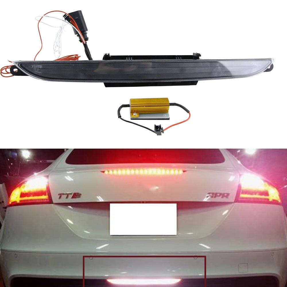 Fit for Audi TT (MKII Typ 8J) 2nd Gen 2007-2013 12V Rear Fog Light/ Red Brake/tail Lights Xenon White Backup Reverse Light