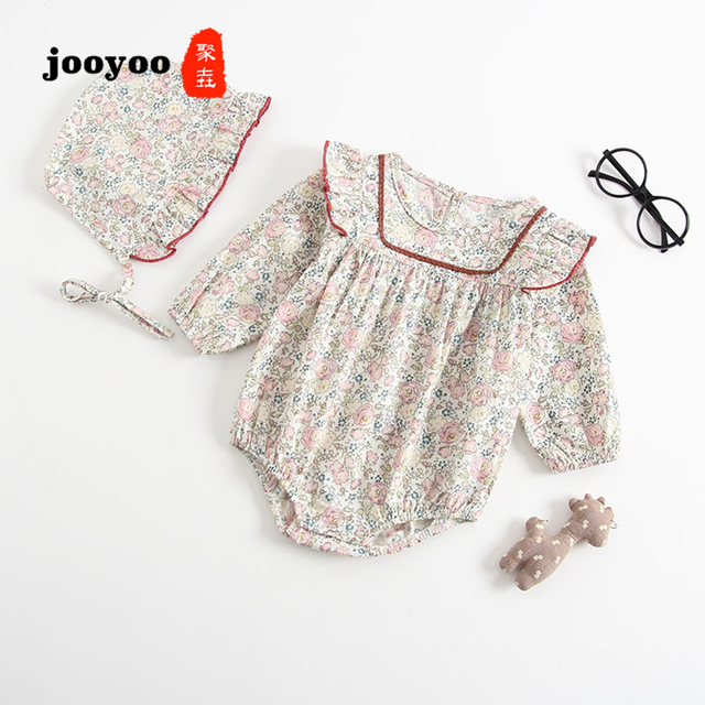cc6e88529dbff Baby Clothes Newborn Jumpsuits Spring Summer Long Sleeve Floral Rompers  Cotton Girl Infant Product jooyoo