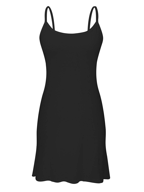 Plus Femmes Long Drap Coton Solide Décontracté Pièce Complet Sangle À 37 Longueur Réservoir EC5qZwC