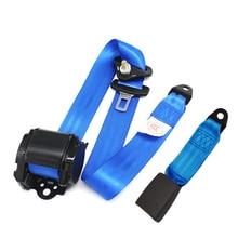 Универсальный Синий удлинитель ремня безопасности автомобиля, удлинитель ремня безопасности, регулируемый ремень безопасности на плечо, п...