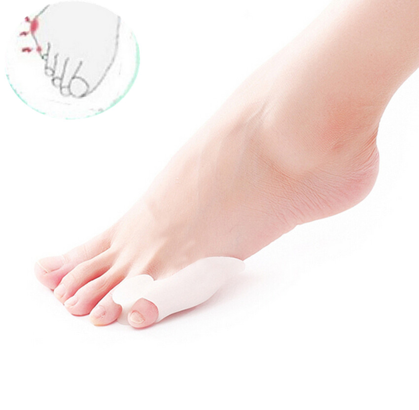 1 Pair Silicone Little Toe Finger Straightener Hallux Valgus Bunion Corrector Foot Health Care Product BO