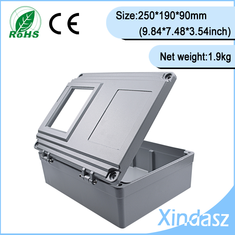 (XD-FA15-1)250*190*90mm(9.84*7.48*3.54inch)High quality guarantee Sealed Water-proof Diecast Aluminium Enclosure with window 1 250 proof 1993