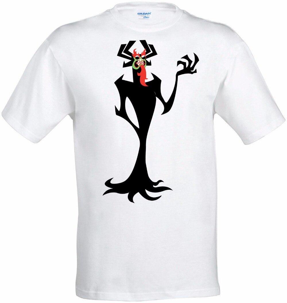 2018 Mens Summer New Brand Men Print T-Shirt Warrior Jack Demon Artwork Fashion Top Mens T-Shirt White Novelty Tee Shirt
