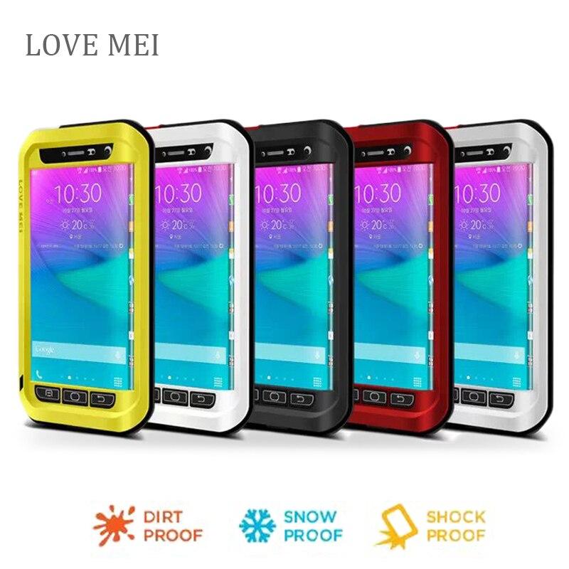 bilder für Note n9150 rand Liebe Mei Shockproof Metallaluminiumkasten-abdeckung Für samsung galaxy note kanten phone cases