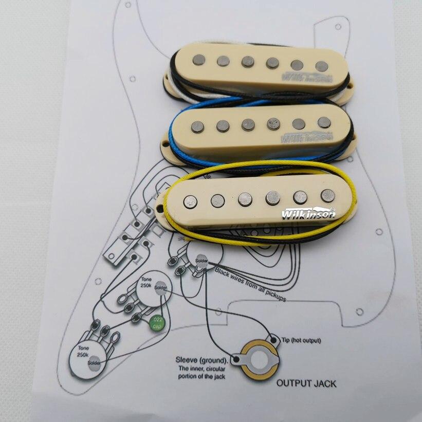 Wilkinson WVS Single coil Alnico5 Pickups St Style Eleciric Guitar Pickups Yellow 1 set Welding circuit