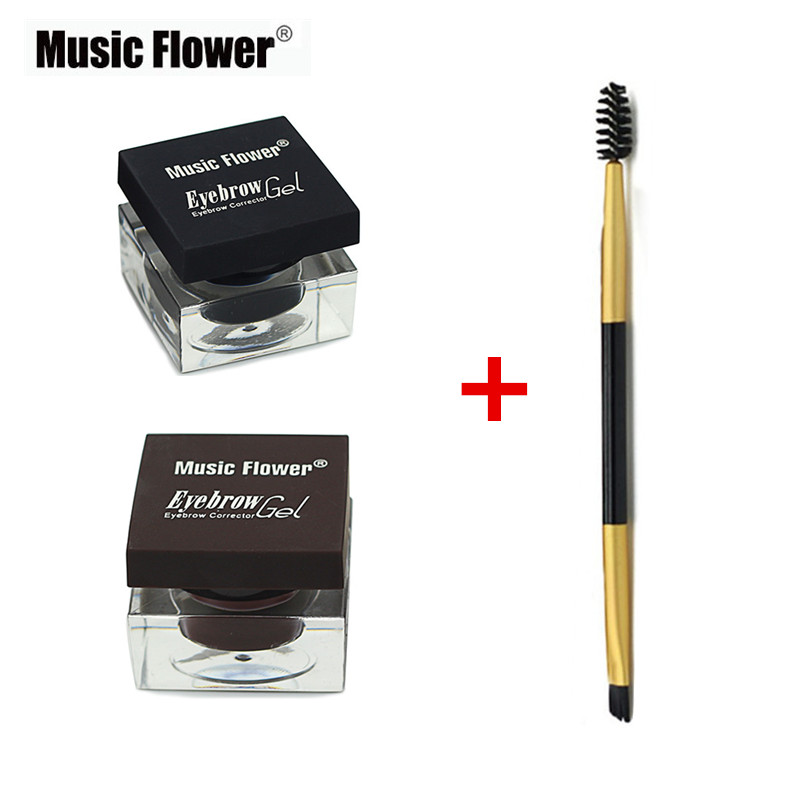 Music Flower Brand Cosmetics Eyebrow Makeup Kit Eye Brow Gel