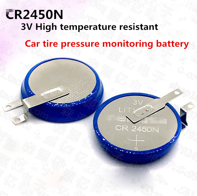 NEW High temperature resistant <font><b>CR2450N</b></font> CR2450 3V Button lithium <font><b>battery</b></font> Automobile tire pressure gauge button Li-ion <font><b>batteries</b></font> image