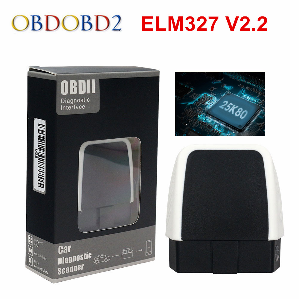 Best V08 ELM327 <font><b>Bluetooth</b></font> <font><b>4.0</b></font> HW V2.2 PIC18F25K80 <font><b>ELM</b></font> <font><b>327</b></font> For Android/IOS/Windows Supports All OBD2 Function Free Ship image