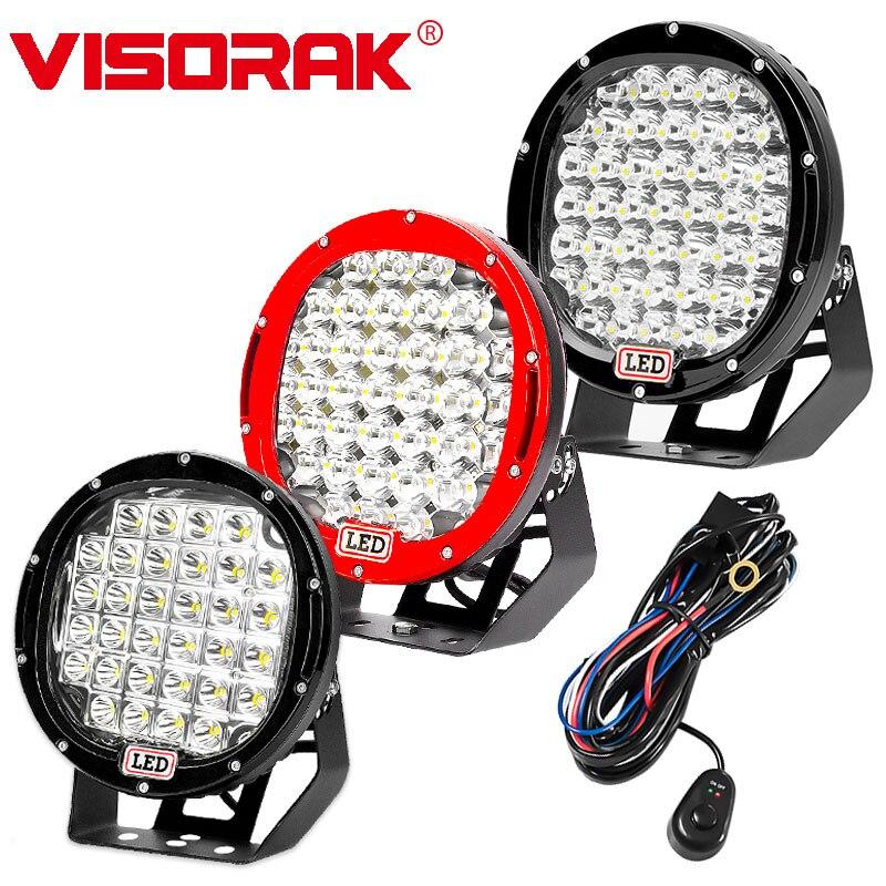 VISORAK Nouveau 9 LED Travail Light Bar 96 w 185 w 225 w Offroad LED Light Bar 12 v 24 v Spot D'inondation Pour 4WD 4x4 Camion Remorque SUV Boat ATV